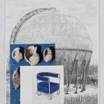 Rien de nouveau en dessous des OVNIS #1, 2017. Plomb, et crayon de bois sur papier. 165 x 115 cm.